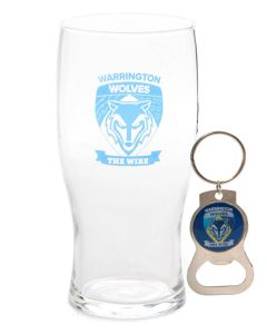 Pint Glass & Bottle Opener